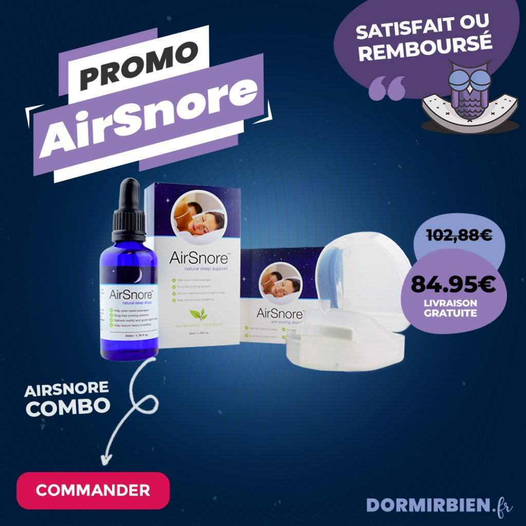 Offre Combo Airsnore appareil buccal et Gouttes